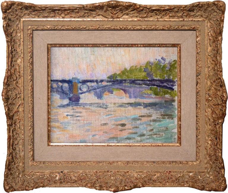 Bridges of Paris / Ponts du Paris. By Neo-impressionist artist Louis Hayet. - Painting by Louis Hayet