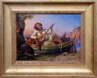 Neapolitan musician. German academic Romanticism genre painting