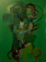 Abstract Composition with Green