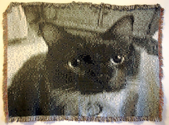 Cat, from the series 8 Bits or Less - Mixed Media Art by Patrick Lichty