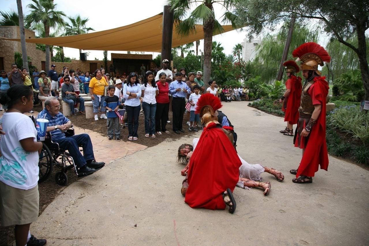Roman Centurions, Christ (actor) + Crowd, Scenes from Jesusland