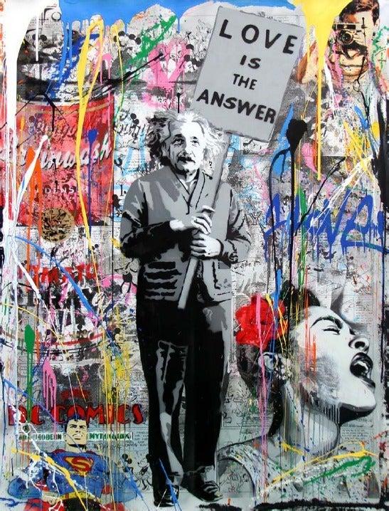 Mr Brainwash Love Is The Answer Einstein At 1stdibs