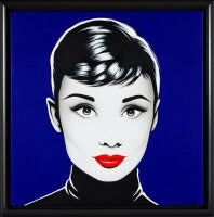 Black Audrey azul