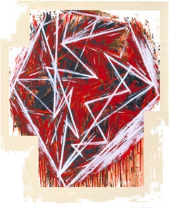 Untitled print by Mel Bochner (red and white)