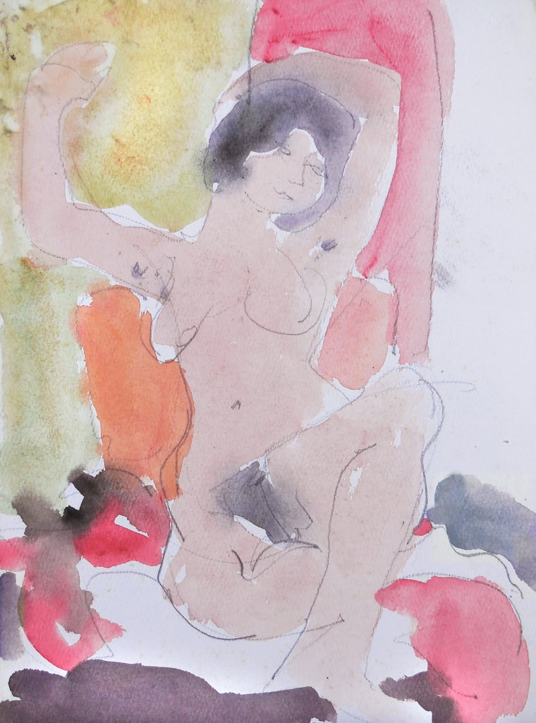 California Post-Impressionist 'Seated Nude, Louvre, LACMA, Académie Chaumière