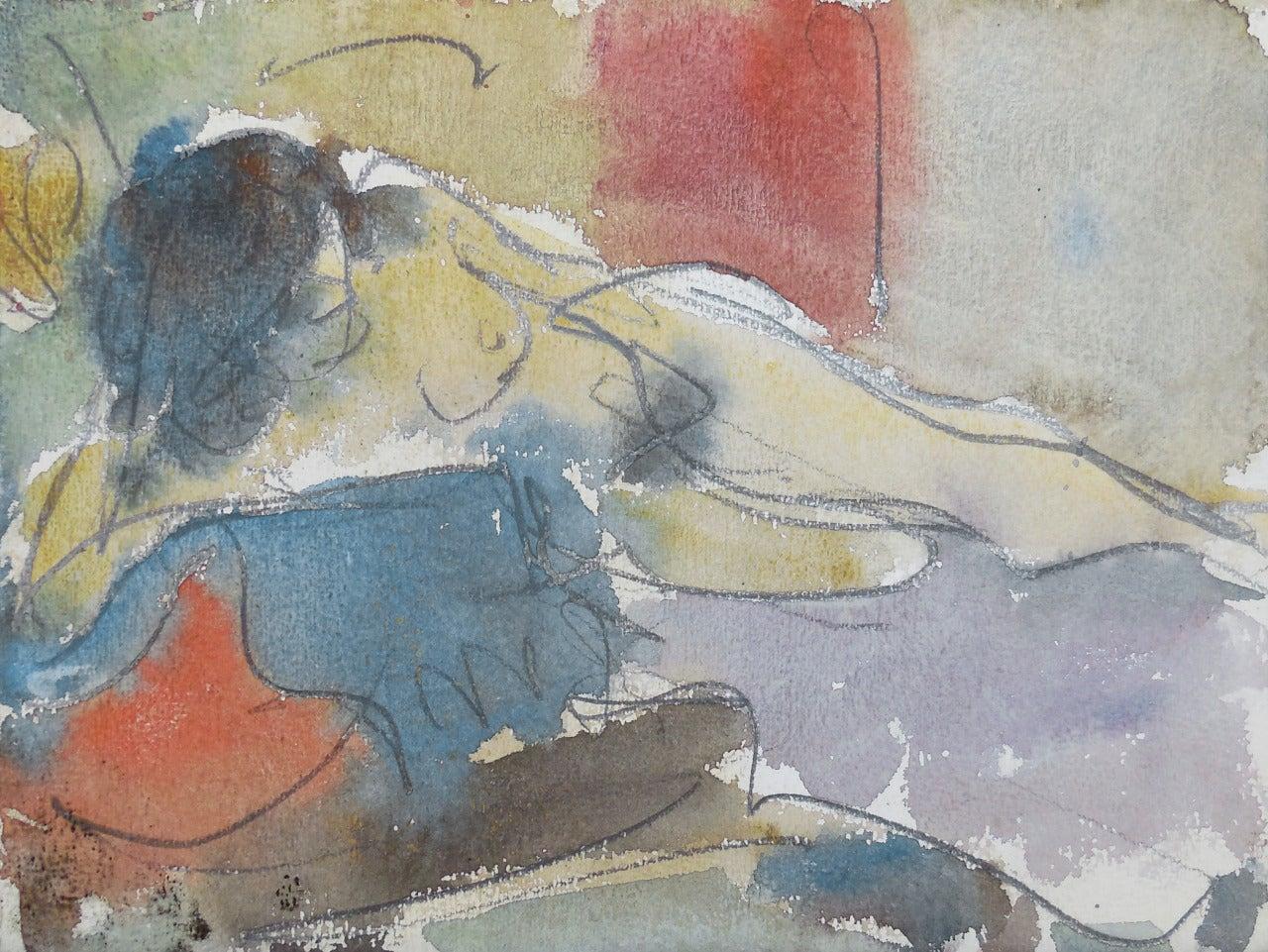 'Reclining Nude', Louvre, LACMA, Académie Chaumière