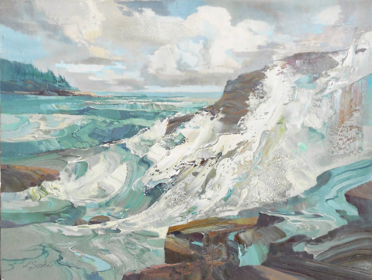 Laurence Sisson Seascape At 1stdibs
