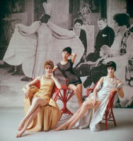 1920's Backdrop Three Minidresses Seated
