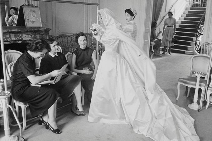 Mark Shaw Black and White Photograph - Dior, Felicite Gown