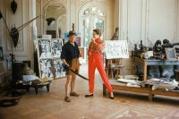 Picasso with Bettina Graziani in His Cannes Villa