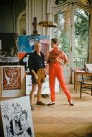 Picasso With Bettina Graziani In His Studio