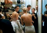 Models Getting Dressed Backstage at Balmain