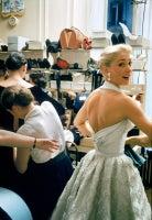 Backstage at Balmain, Model in White Halter