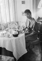 Audrey Hepburn Lunches In Her Dressing Room