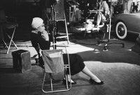 Audrey Hepburn Sitting On The Set of Sabrina