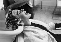 Audrey Hepburn Being Shampooed On The Set Of Sabrina