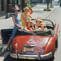 Beach Hat Models in Red Jaguar