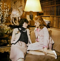 Portrait of Coco Chanel and Jeanne Moreau