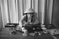 Coco Chanel Creates Jewelry In Her Workroom
