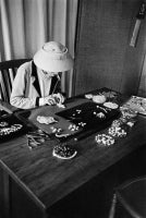 Coco Chanel Creates Jewelry In Her Workroom Using Plasticine