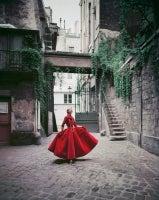 Courtyard Chanel Red Velvet