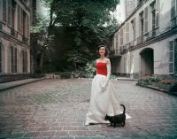 Balenciaga Faille and Satin Gown Photographed in Paris
