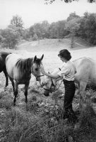 Jacqueline Kennedy With Her Horses At Merrywood