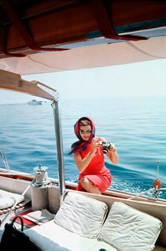 Jacqueline Kennedy Taking a Picture Using Mark Shaw's Camera