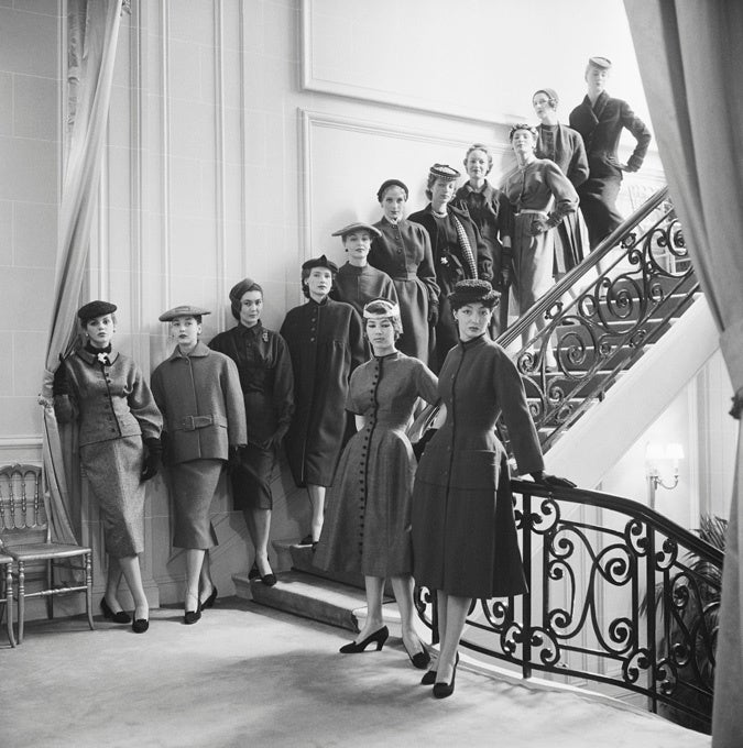 Mark Shaw Black and White Photograph - The First Thirteen Diors, 1953