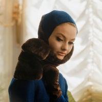 Mod Blue Fur Hood, 1961