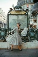 Grey Dior Outside Paris Louvre Metro