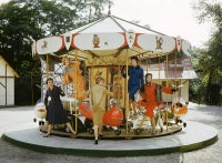 Models on Carousel, Bois de Boulogne, Paris