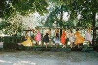 Models on Train, Bois de Boulogne, Paris, 1957