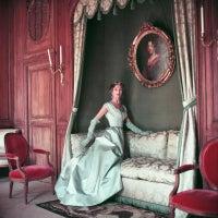 Jane Sprague in Blue Fath Gown