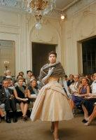 Salon Dior Cream Velvet Fur Stole