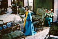 Lee Radziwill, Blue Cape in Brocade Room