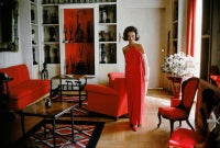 Lee Radziwill, Red Gown in Red Room