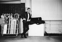 Yves St. Laurent in His Studio