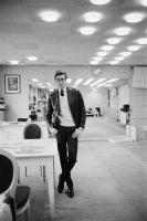Yves St. Laurent in His Studio
