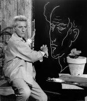 Jean Cocteau (Le Poete) et son Autoportrait