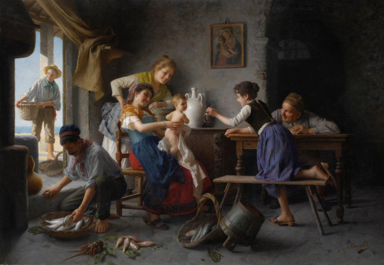 Giovanni Battista Torriglia La Famiglia Del Pescatore At