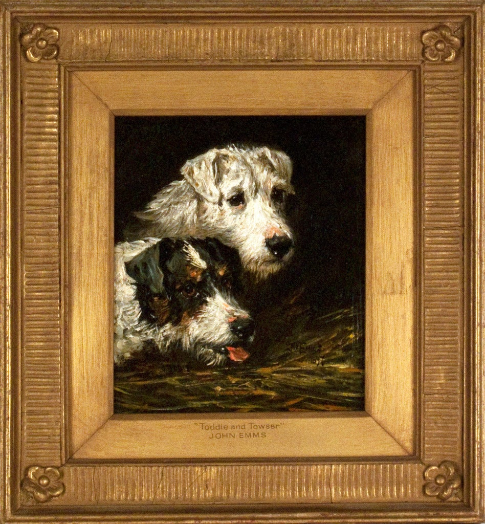 John Emms Toddie And Towzer 1897 Painting At 1stdibs