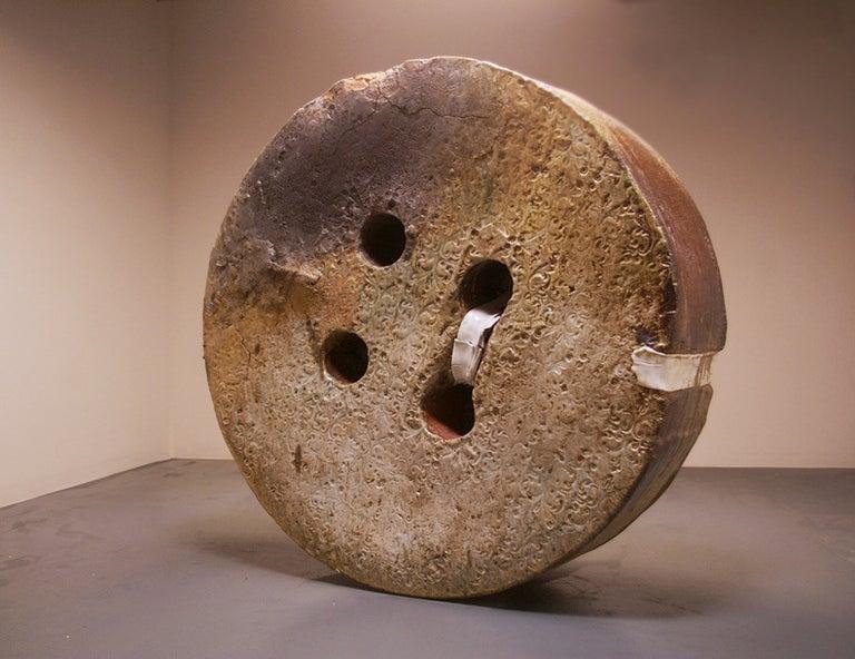 Huge  Button - Sculpture by Ryan Mitchell