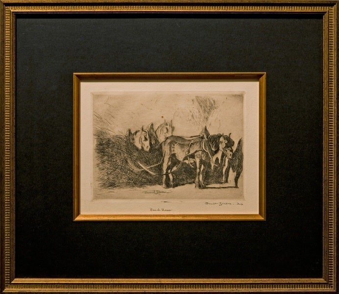 "Daniel Garber Animal Print - ""French Horses"""