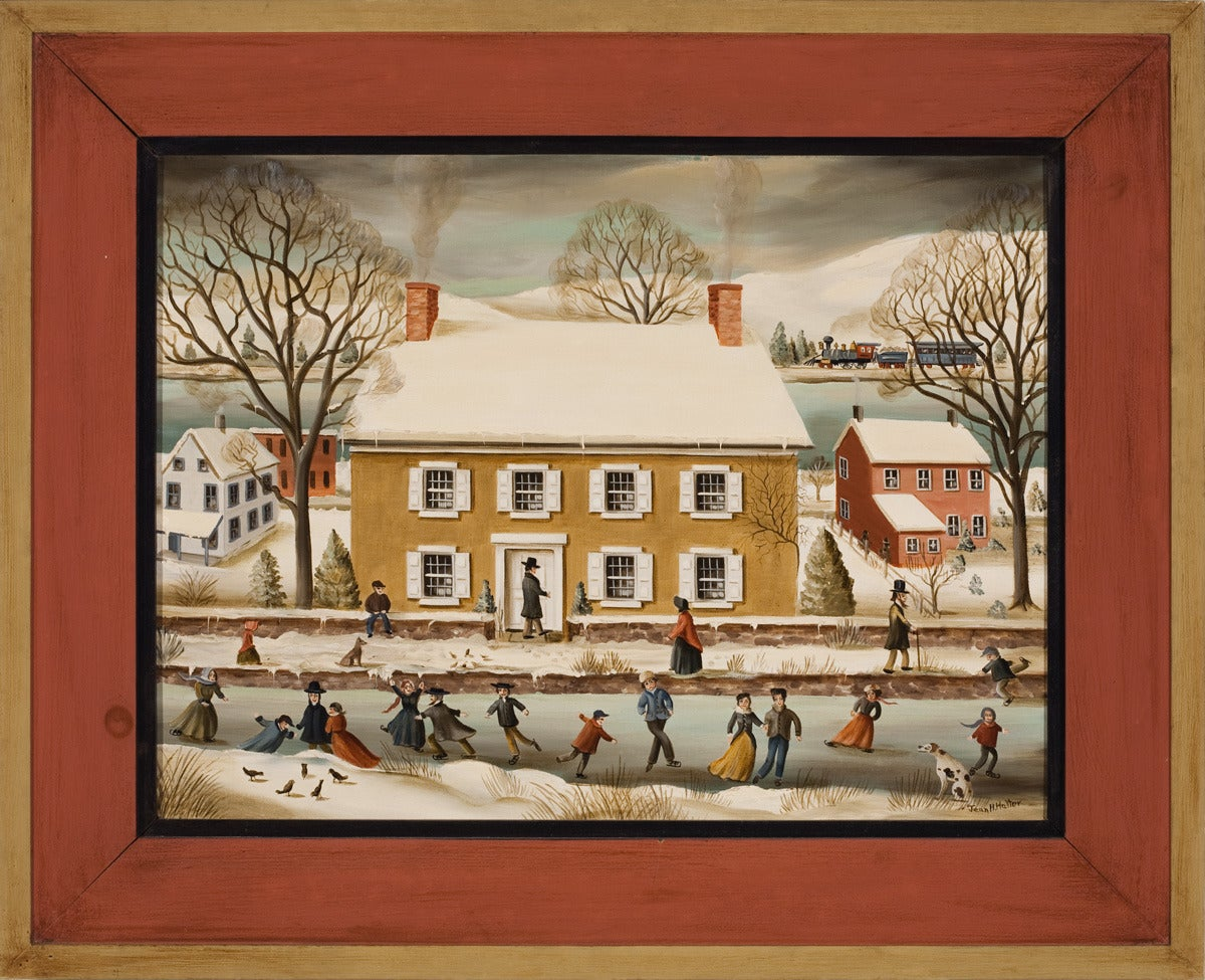 """""""Skating on the Canal, New Hope"""""""