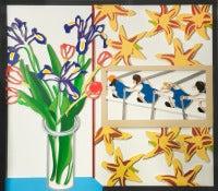 Inside My Window w/Easter Bouquet (Irises)