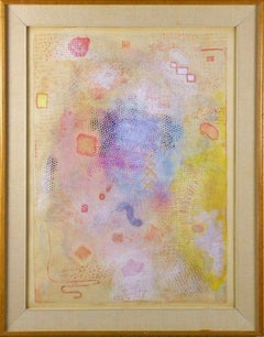 """Intimate Lighting"" 1973 Robert Natkin Mixed Media Painting"