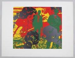 """""""Detente"""" Jerry Kearns Pop Art Silkscreen Screenprint"""
