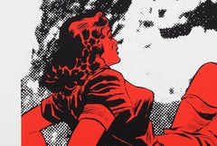 """""""Hard Rock"""" Jerry Kearns Silkscren Pop Art Pinup Girl"""