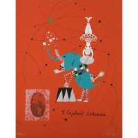 Rare Wolfgang Roth Dada Bauhaus Circus Silkscreen Print 5